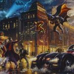 """Dark Knight Saves Gotham City,"" Thomas Kinkade Studios"