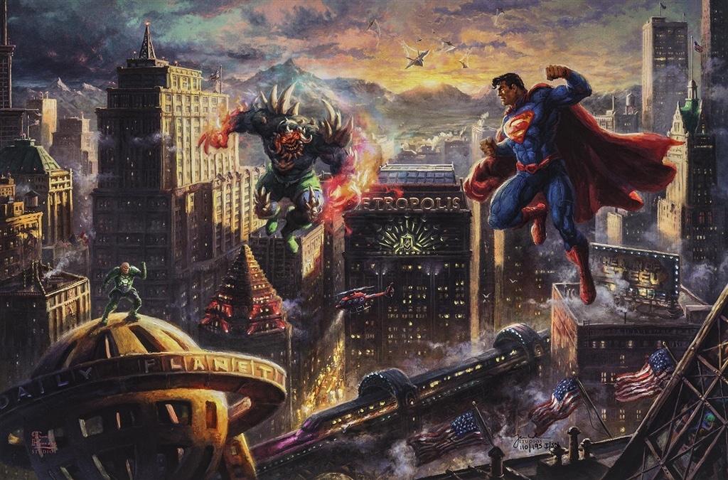 """Superman - Man of Steel,"" Thomas Kinkade Studios"