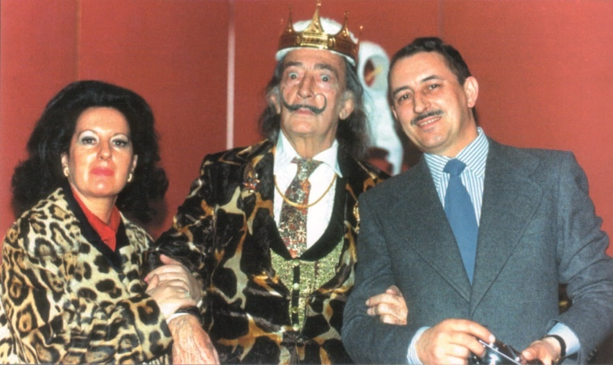 Salvador Dalí with the Albarettos (Photo credit: Eduard Fornés)