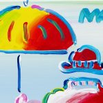 "Detail from ""Umbrella Man on Blend, Ver.XI # 448,"" Peter Max"