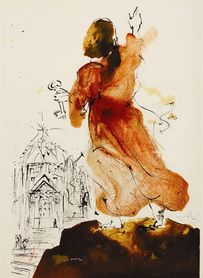 """Tu es Petrus... (You are Peter)."" From ""Biblia Sacra"" by Salvador Dalí"
