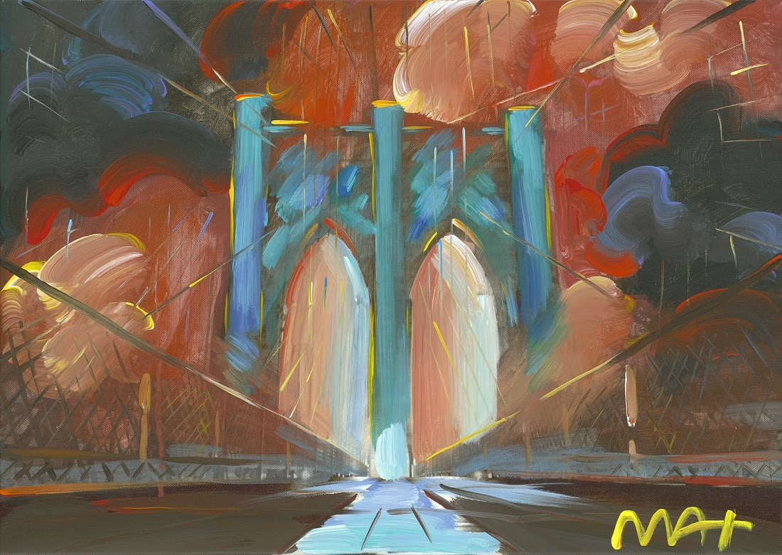 """Brooklyn Bridge I Ver. I #389,"" Peter Max"