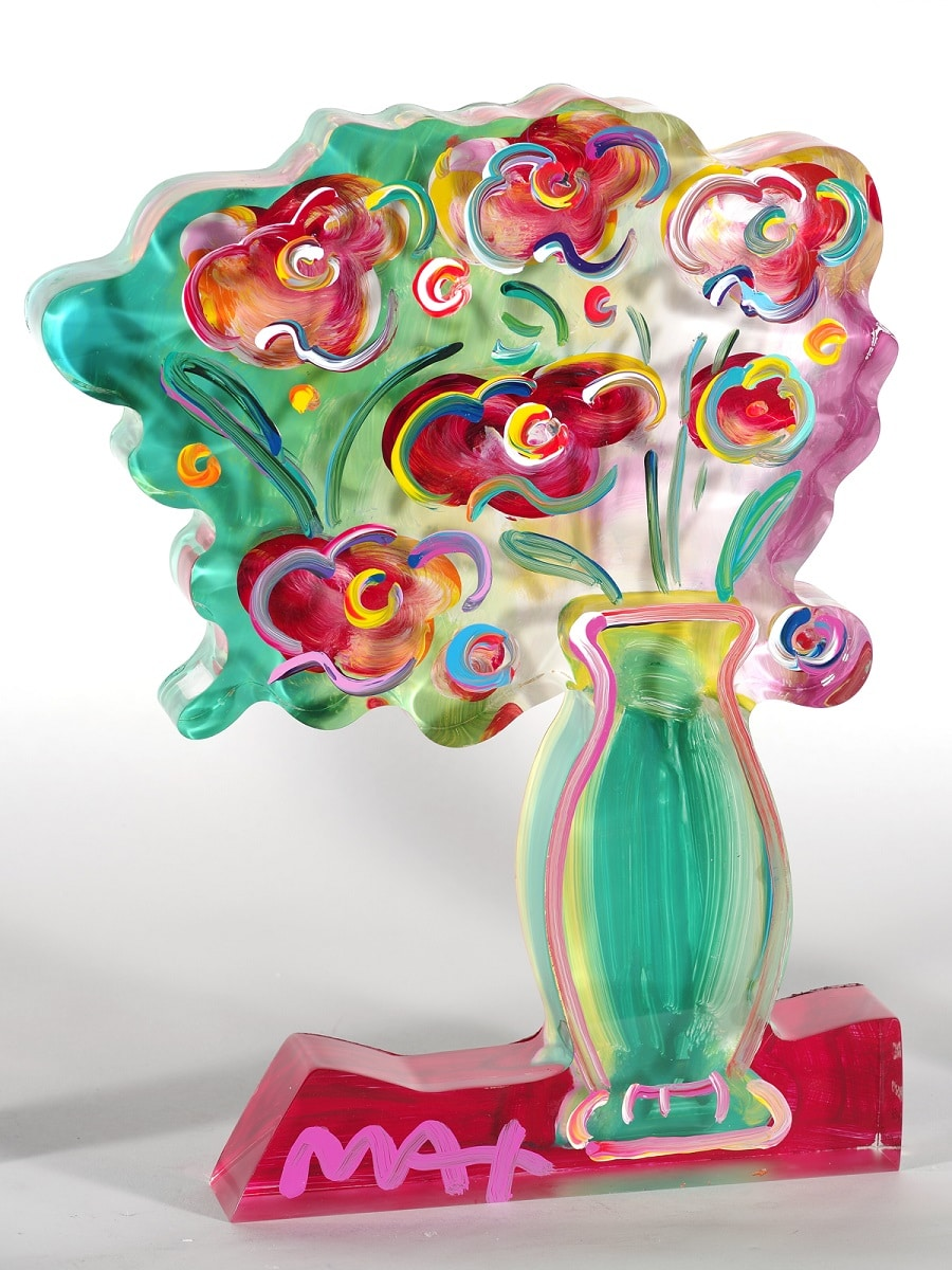 """Vase of Flowers Ver. II #137,"" Peter Max"