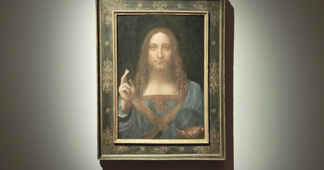 "Leonardo da Vinci's ""Salvator Mundi""... or is it? (Image credit: YouTube)"