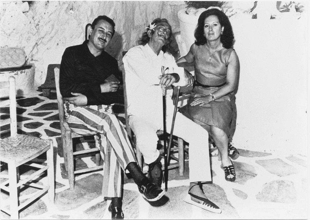 Dalí with the Albarettos (Photo credit: Eduard Fornés)