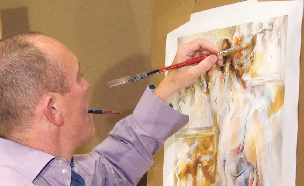 Peter Nixon at work