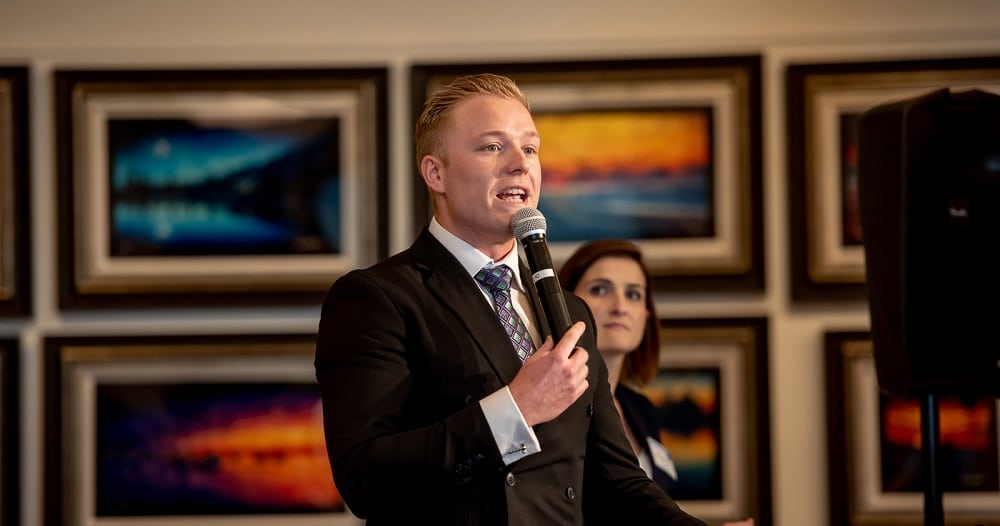 Auctioneer Matt Whittam