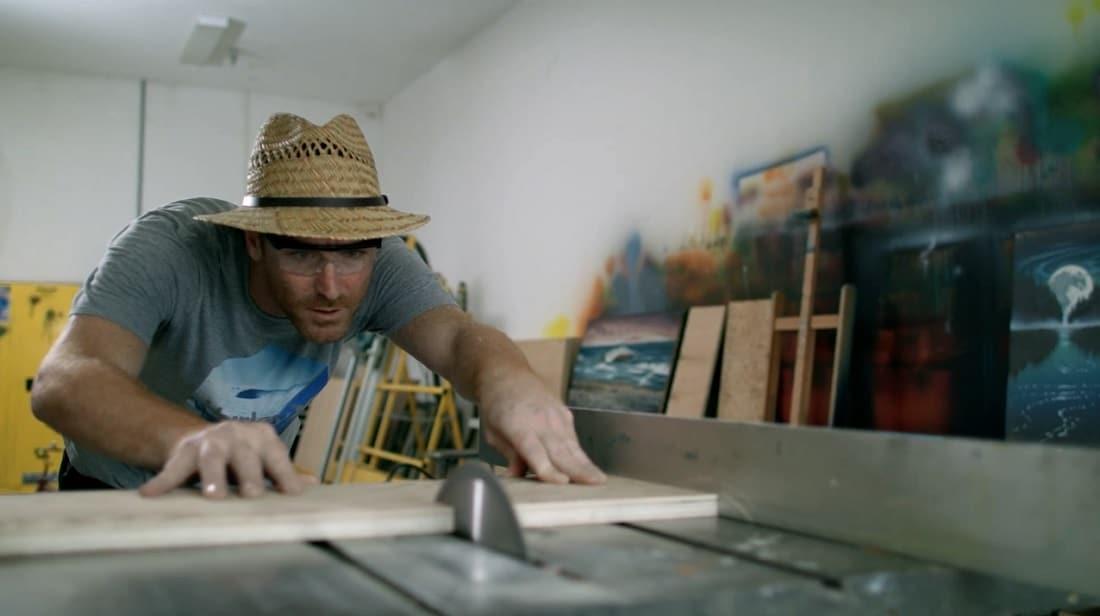 Matt Beyrer at work in his studio.
