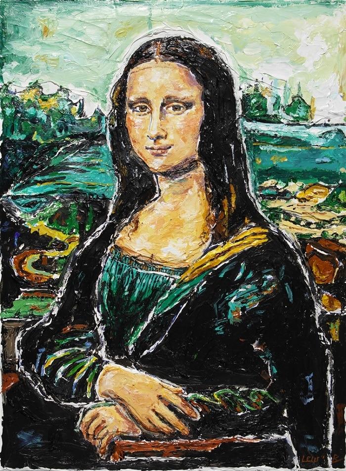 """""""Mona Lisa - Ode to Da Vinci"""" by Leslie Lew"""