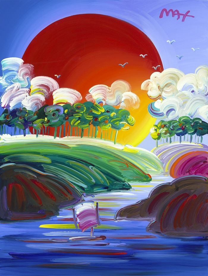 """Without Borders Ver. XIX #25,"" Peter Max"