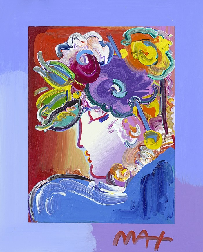 """Blushing Beauty,"" Peter Max"