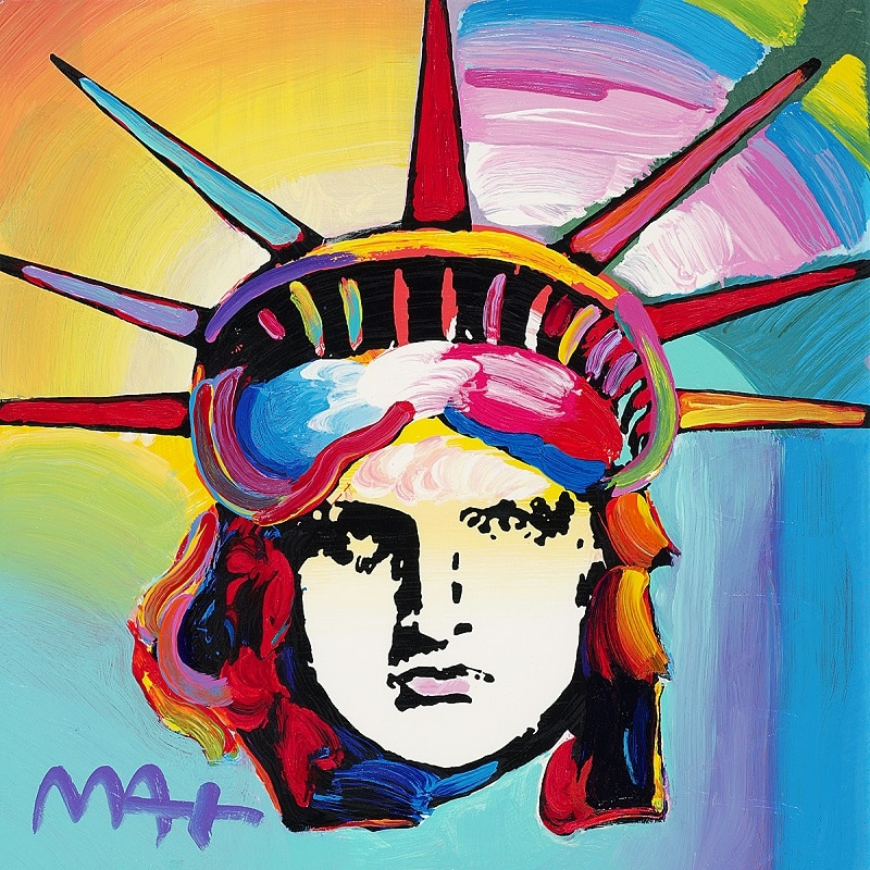 """Liberty Head,"" Peter Max"
