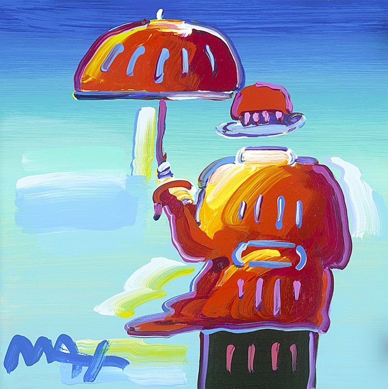 """Umbrella Man,"" Peter Max"
