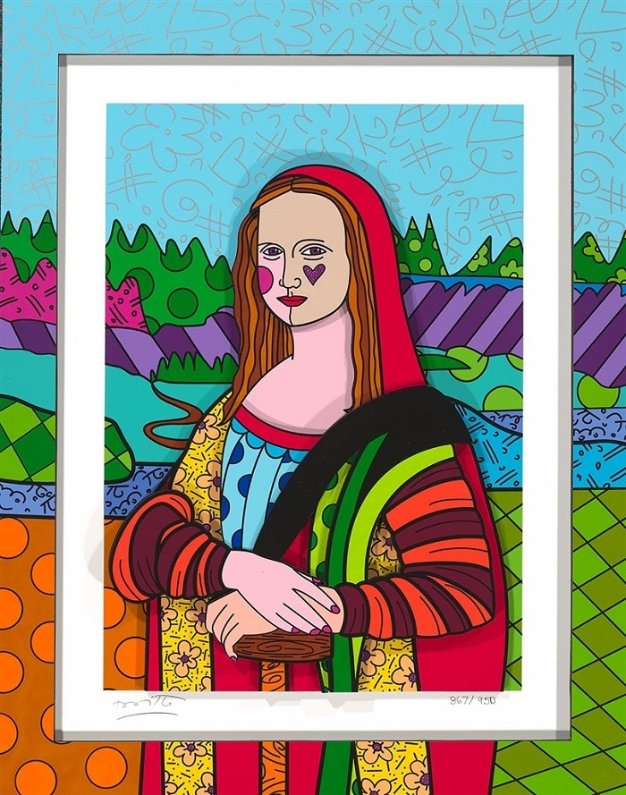 """Mona Lisa"" by Romero Britto"