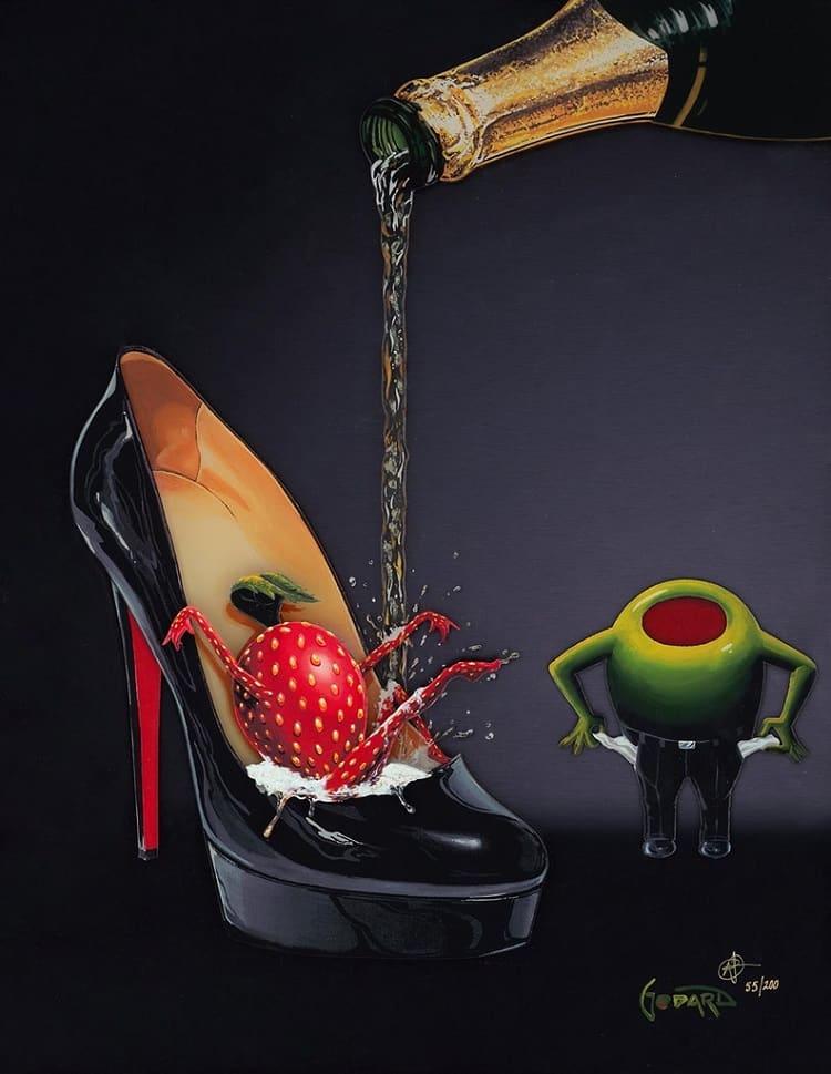 """Champagne Shoe,"" Michael Godard"