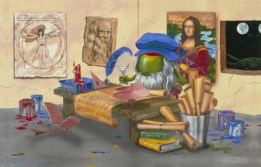 """""""Da Vinci's Window"""" by Michael Godard"""