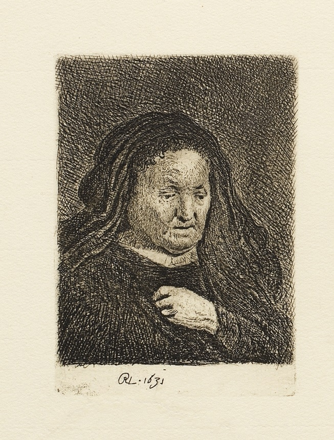 """The Artist's Mother with Her Hand on Her Chest"" (1631)"