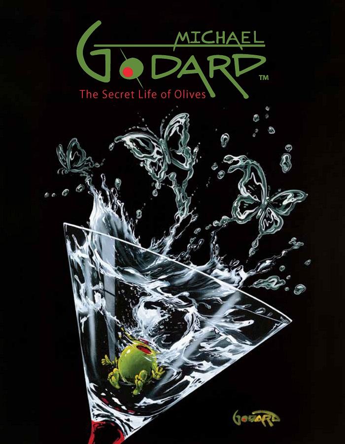 "Promotional poster for ""Michael Godard: The Secret Life of Olives"""