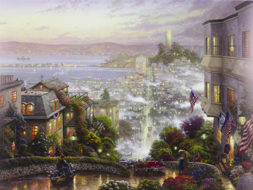 """""""San Francisco, Lombard Street,"""" Thomas Kinkade"""