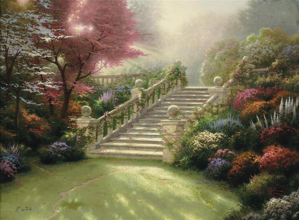 """""""Stairway to Paradise,"""" Thomas Kinkade"""