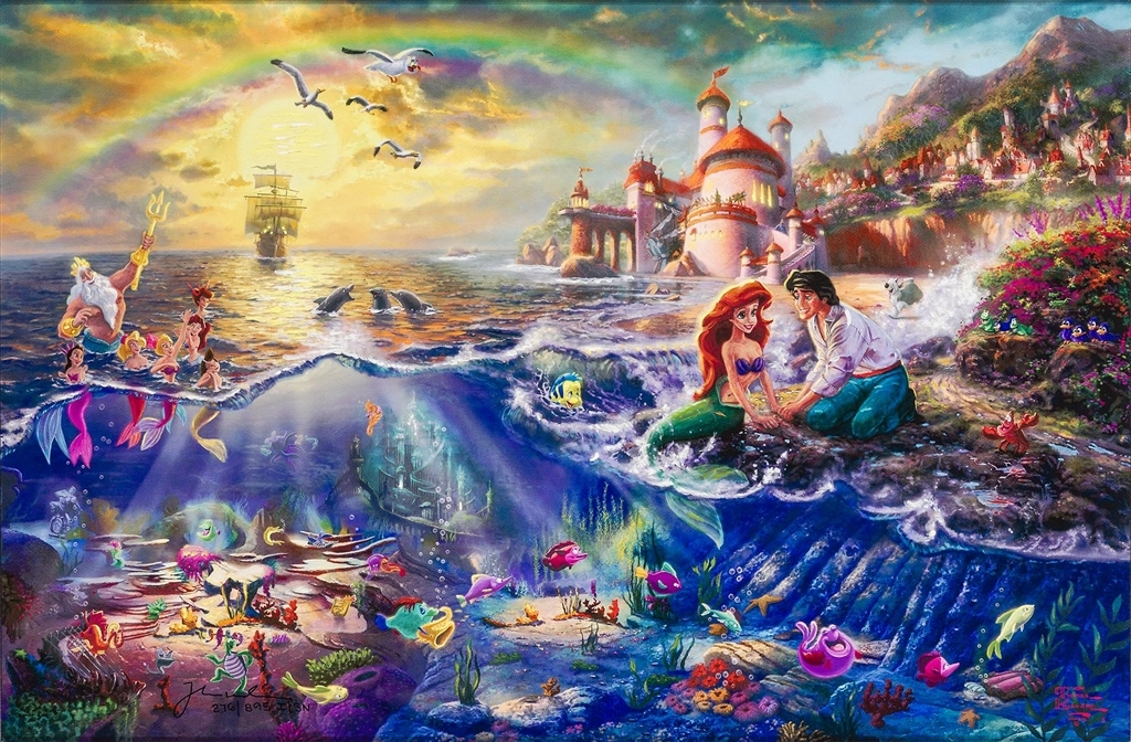 """The Little Mermaid,"" Thomas Kinkade"