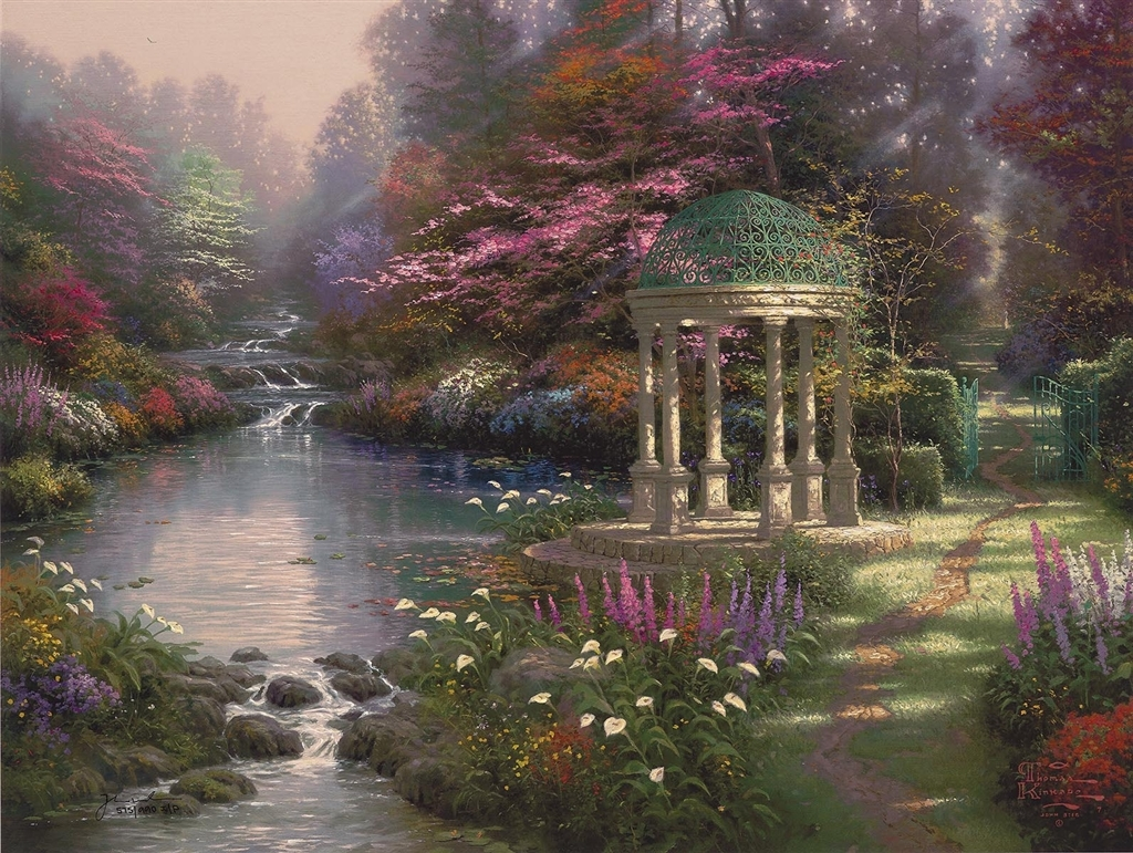 """Garden of Prayer,"" Thomas Kinkade"