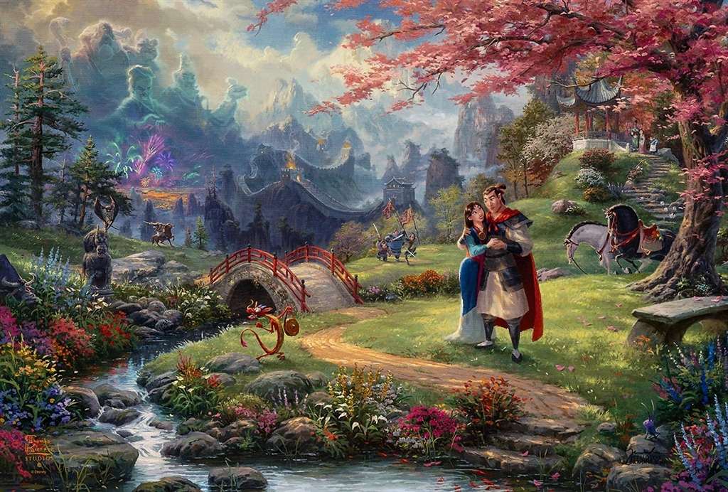 """Mulan - Blossoms of Love,"" Thomas Kinkade Studios"