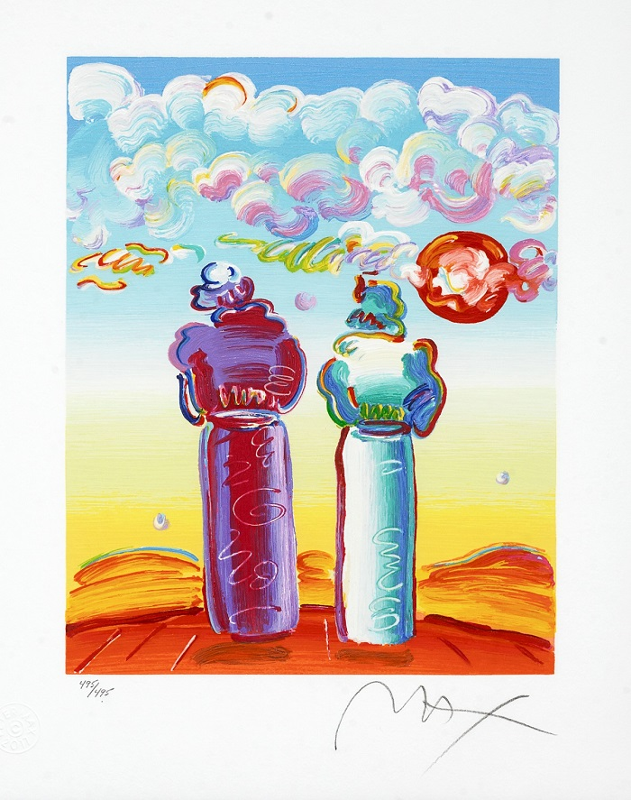 """Two Sages Looking at Sunrise"" – Peter Max"