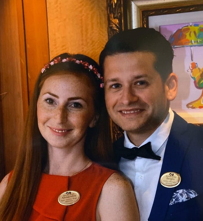 Sergiu and Alexandra enjoying their time on board Carnival Dream.