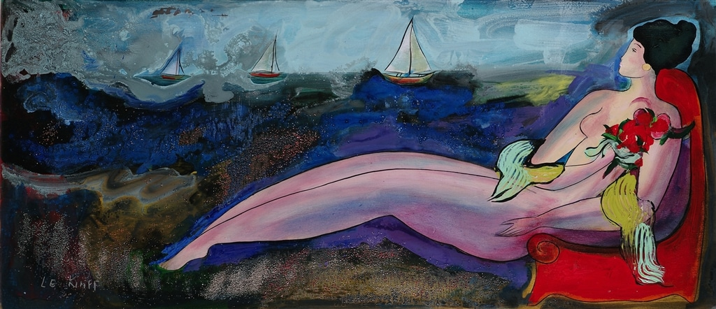 """Caravanserail de Jade,"" Linda Le Kinff, female form, figurative art"
