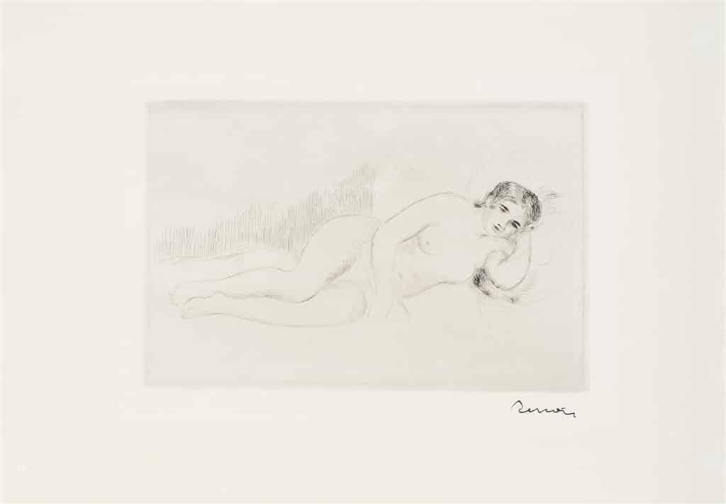 """""""Femme Nue Couchee (S. 13), D. 13,"""" Pierre-Auguste Renoir"""