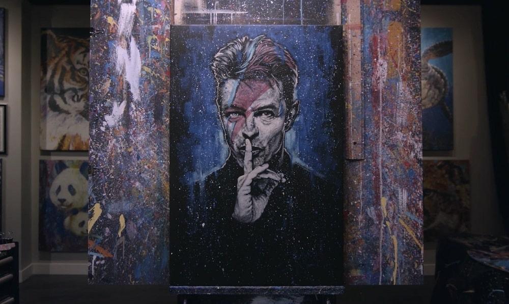 Portrait of David Bowie by Stephen Fishwick