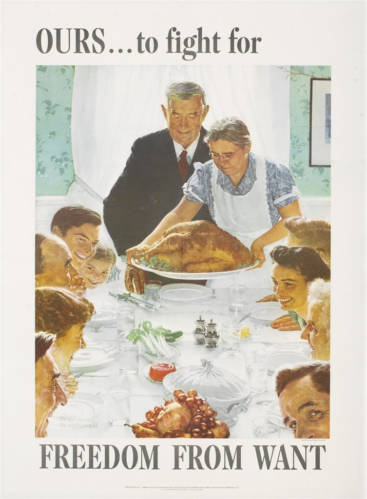 """Freedom from Want,"" Norman Rockwell. From Park West Gallery's American Spirit Collection"
