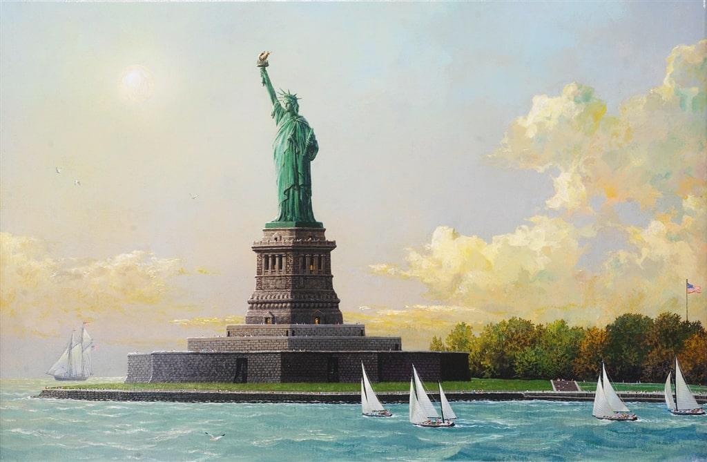 """Liberty Island,"" Alexander Chen"