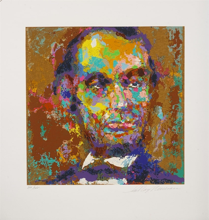 """Homage to Lincoln,"" LeRoy Neiman. From Park West Gallery's American Spirit Collection"