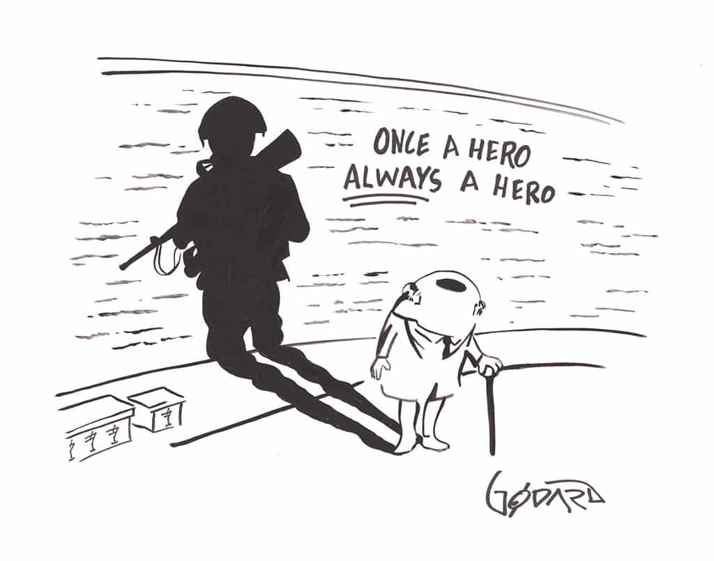 """Once a Hero Always a Hero,"" Michael Godard"