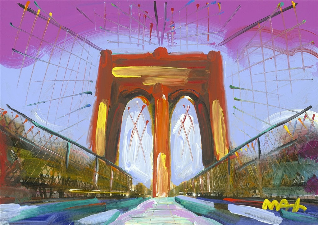 """Brooklyn Bridge I ver.I #421,"" Peter Max"