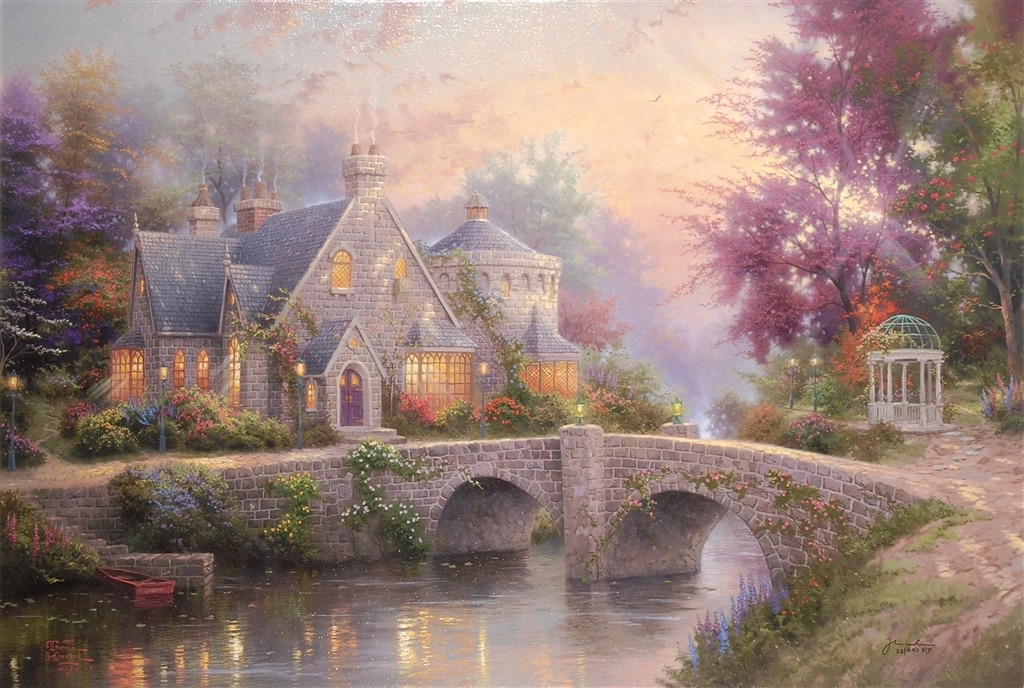 """""""Lamplight Manor,"""" Thomas Kinkade"""