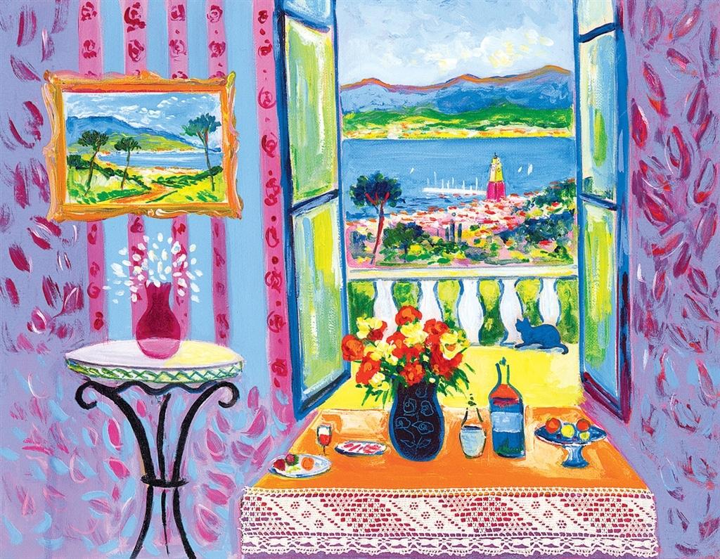 """Le Balcon a Ste. Tropez,"" Jean-Claude Picot"