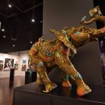 "A bronze elephant named ""Bobby"" by acclaimed sculptor Nano Lopez welcomes guests to the new Park West Fine Art Museum & Gallery in Las Vegas."